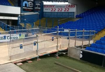 scaffolding for Ipswich Town Football Club