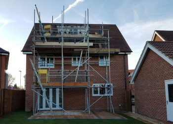 Scaffolding for window fitters