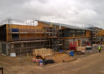 Scaffolding on Arthur Rank Hospice