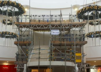 Scaffolding Project in Shopping Center