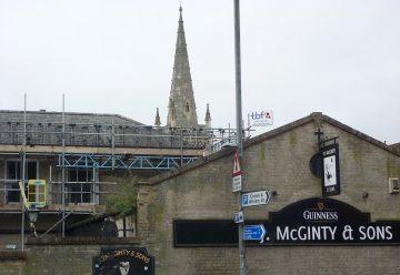 Scaffolding Ipswich town centre