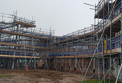 New Build Scaffolding Photo