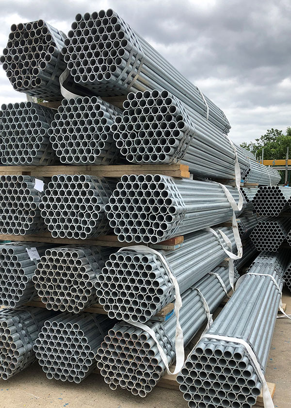 Stack of scaffolding bundles
