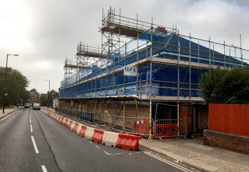 Grimwade Street scaffold